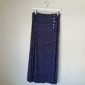 Anthropologie Polka Dot Maxi Skirt, Size 5